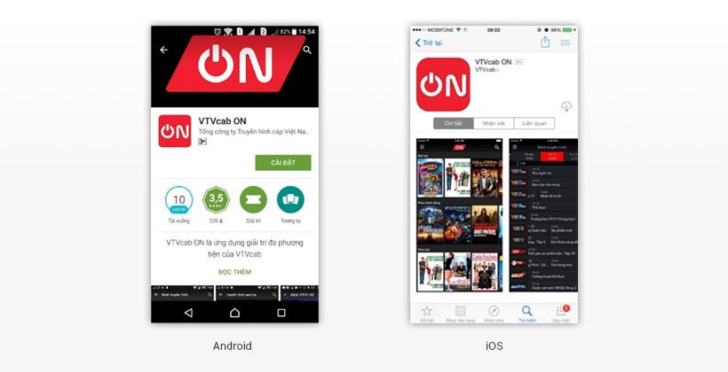 Cách cài ứng dụng VTVcab ON trên di động